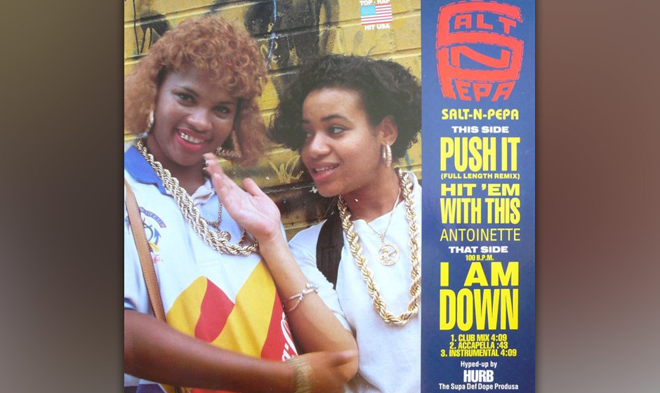 446. Salt 'n Pepa - 'Push It' (Hurby 'Luv Bug' Azor)  1985 rekrutierte Azor seine Sears-Kollegen Cheryl James und Sandy Dento