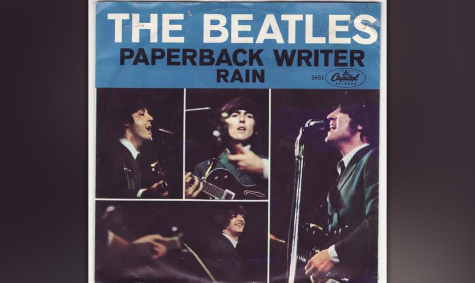 469. The Beatles - 'Rain' (John Lennon, Paul McCartney) Die B-Seite von 'Paperback Writer' war Lennons Anwort auf Leute,
