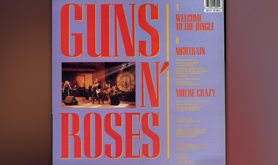 473. Guns N' Roses - 'Welcome to the Jungle' (Guns n' Roses) Slashs zermalmender Siebziger-Metal und Axls höllischer, schril
