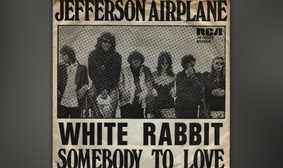 483. Jefferson Airplane - 'White Rabbit' (Grace Slick) 'White Rabbit' war ein psychedelischer Rock'n'Roll-Bolero, der