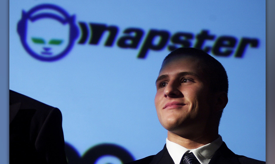 381116 08: Napster founder Shawn Fanning appears at a press conference October 31, 2000 in New York. Bertelsmann eCommerce Gr