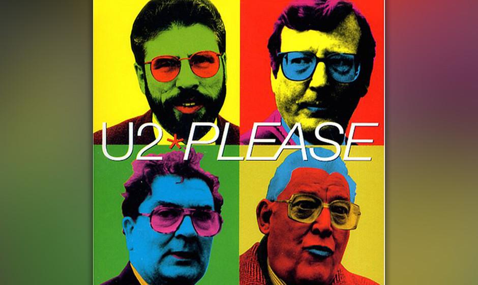 43. 'Please'. Das Arrangement aus Disco-Bass und Stop-and-Go-Schlagzeug sollte nicht darüber hinwegtäuschen, dass Bono hier