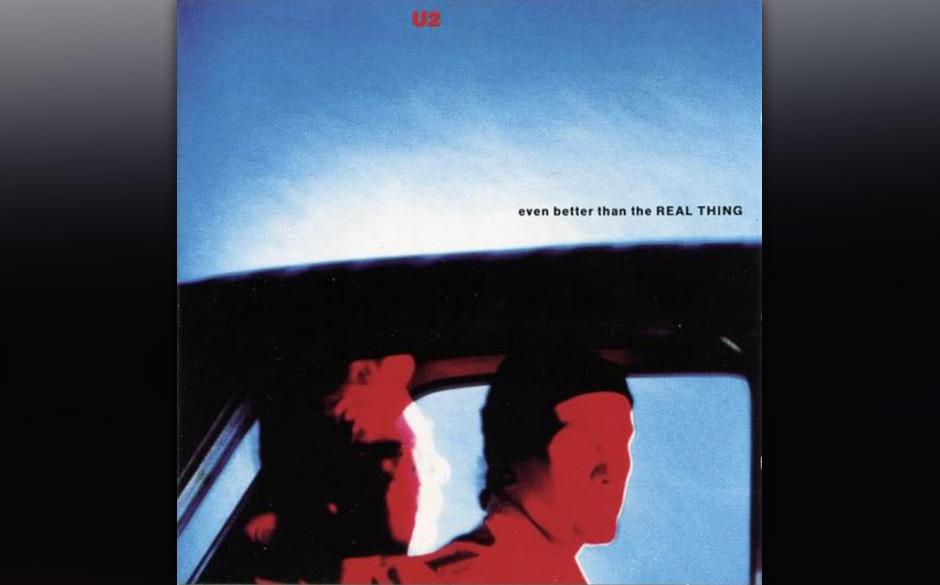 45. 'Even Better Than The Real Thing'. Die Initialzündung stammt von The Edge, den sein eigenes Riff an die Stones erinnerte