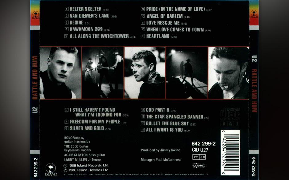 48. 'God Part II'. Die U2-eigene Fortsetzung von John Lennons 'God'. Die Versfolgen sind ähnlich, der heilige Zorn und die Z