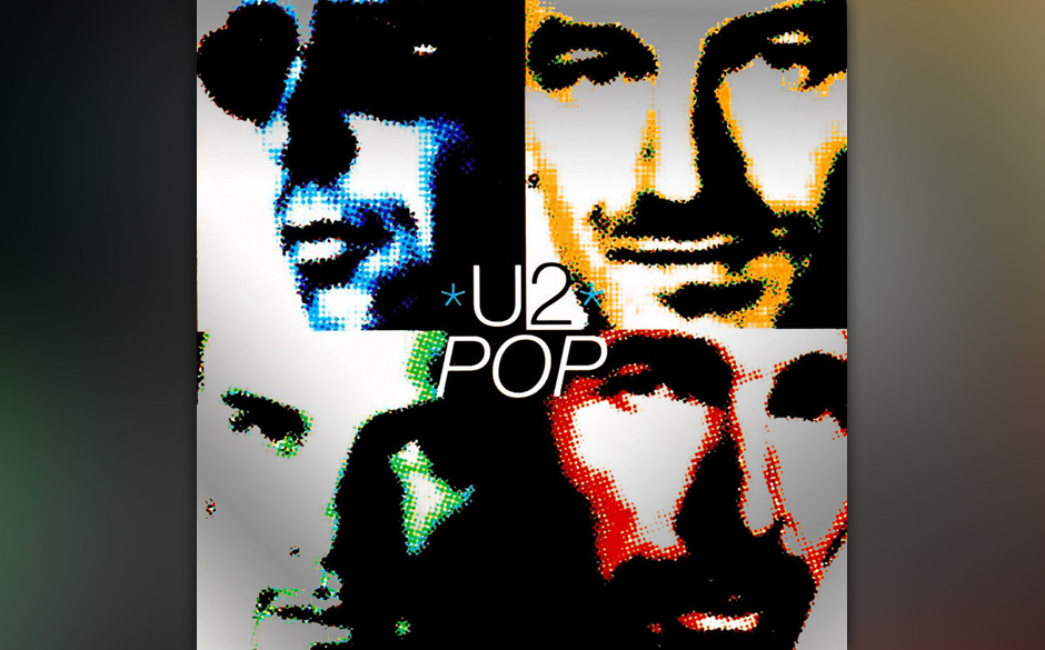 """20. 'Wake Up Dead Man'. Der letzte Song von """"Pop"""", der mit schlichtem Gitarrenspiel, flirrenden Geräuschen und verzerrte"""