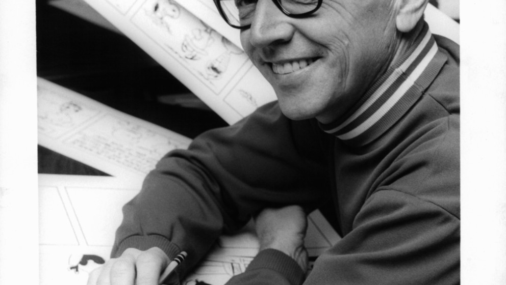Charles Schulz in a scene from the documentary 'Charlie Brown And Charles Schulz', 1969. (Photo by CBS/Michael Ochs Archives/
