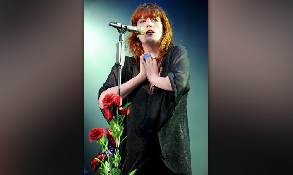 Florence Welch of Florence and the Machine performs at day two of V Festival at Weston Park on August 22, 2010 in Stafford, E