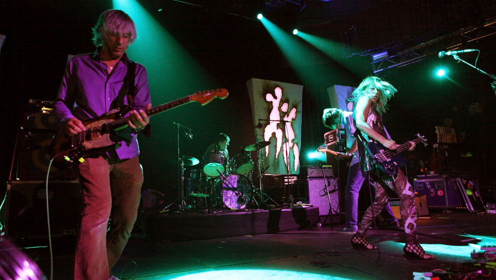 MONTICELLO, NY - SEPTEMBER 04:  Lee Renaldo, Steve Shelley, Thurston Moore and Kim Gordon of Sonic Youth perform onstage at