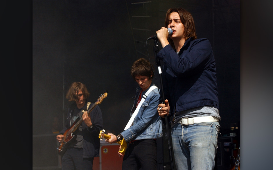 Julian Casablancas of The Strokes during KROCK 92.3 FM Radio New York - Dysfunctional Family Picnic VI - Show at Jones Beach