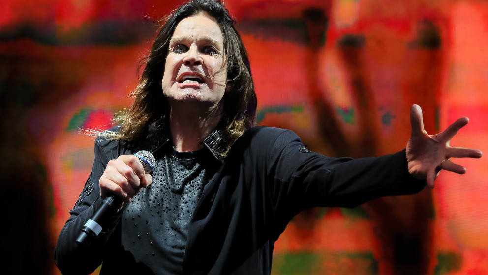 LONDON, UNITED KINGDOM - JULY 04: Ozzy Osbourne of Black Sabbath performs on stage at British Summer Time Festival at Hyde Pa
