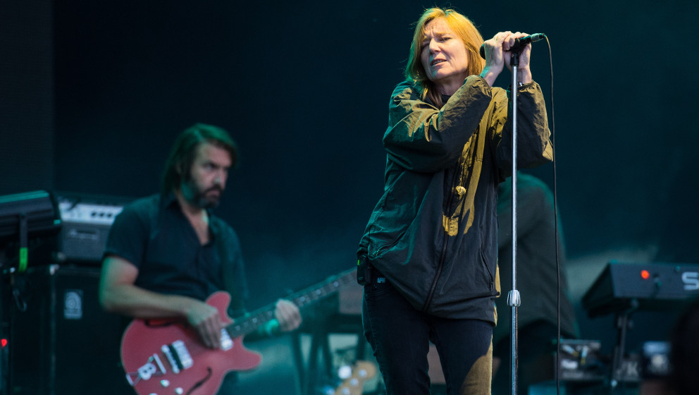 SAINT-CLOUD, FRANCE - AUGUST 23: Beth Gibbons from Portishead performs at Rock en Seine Festival at  on August 23, 2014 in Sa