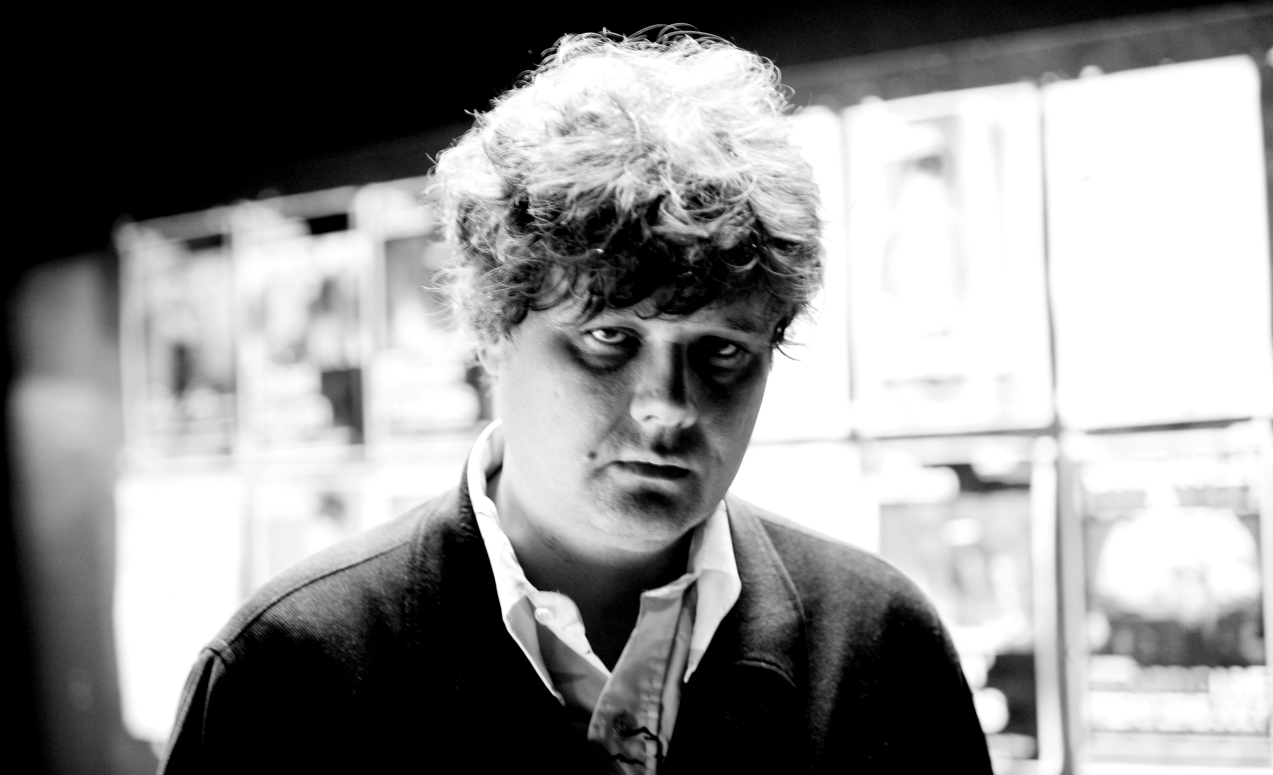 CAMBRIDGE, ENGLAND - 28th JUNE: Canadian singer and guitarist Ron Sexsmith posed at the Cambridge Junction in Cambridge, Engl