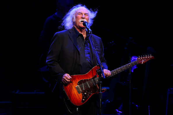 LOS ANGELES, CA - OCTOBER 03:  David Crosby of Crosby, Stills & Nash performs at The Greek Theatre on October 3, 2014 in