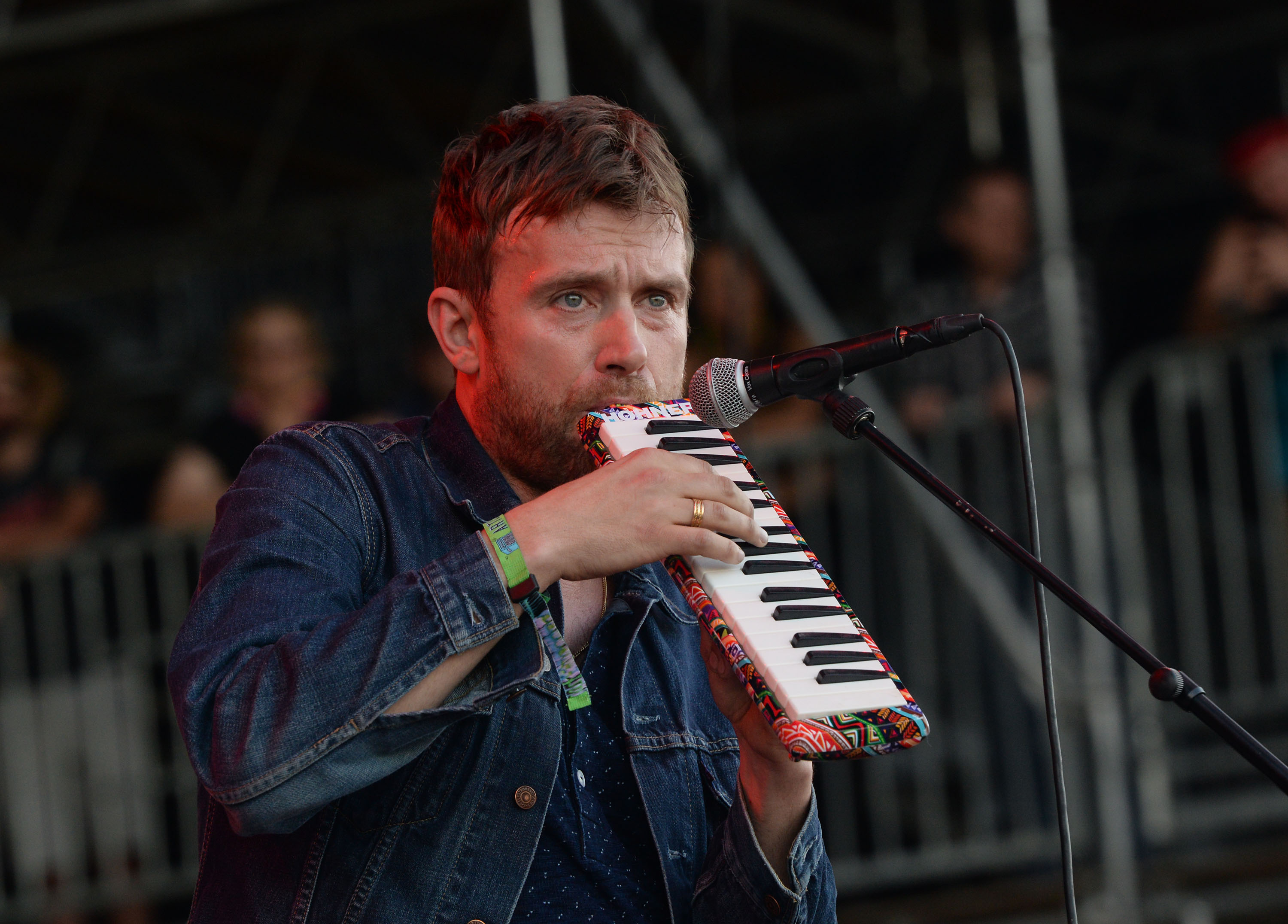 MANCHESTER, TN - JUNE 14:  Damon Albarn of Blur performs during the 2014 Bonnaroo Music & Arts Festival on June 14, 2014