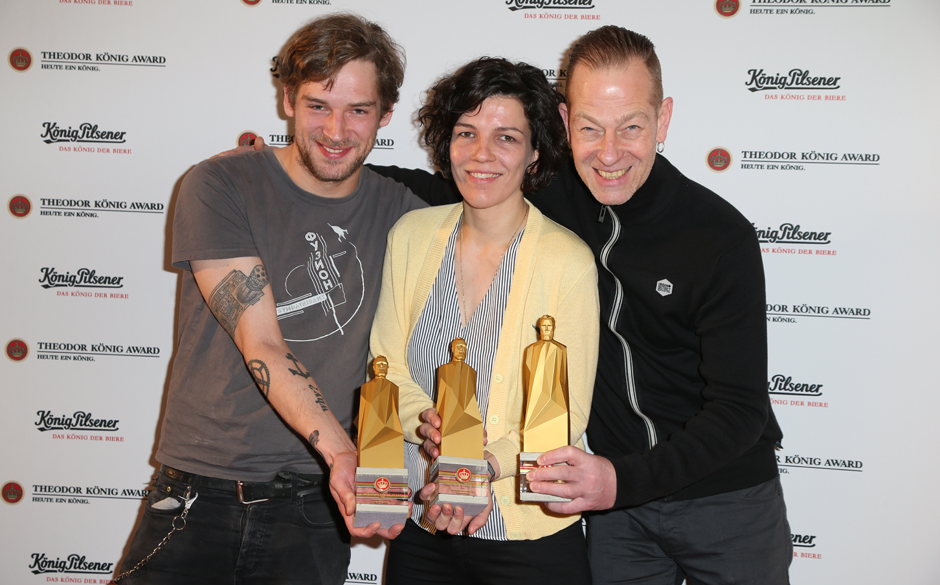 Preisträger Tjorre Hasubski / Licht / Lichttechnik, Katarina Duve / Team Deichkind / Gewinnerin in der Kategorie Kulissenbau