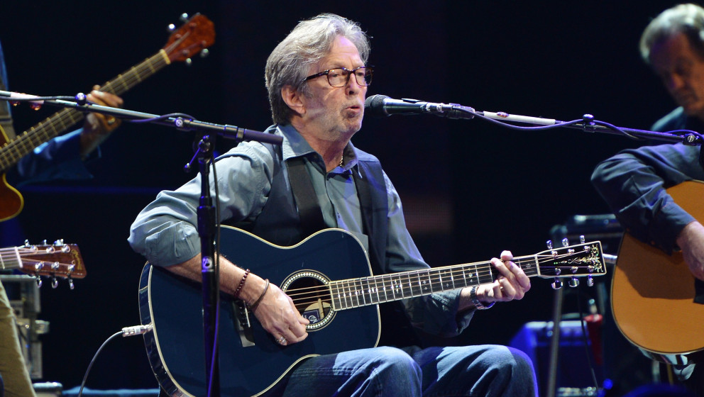 NEW YORK, NY - APRIL 12:  Eric Clapton performs on stage during the 2013 Crossroads Guitar Festival at Madison Square Garden