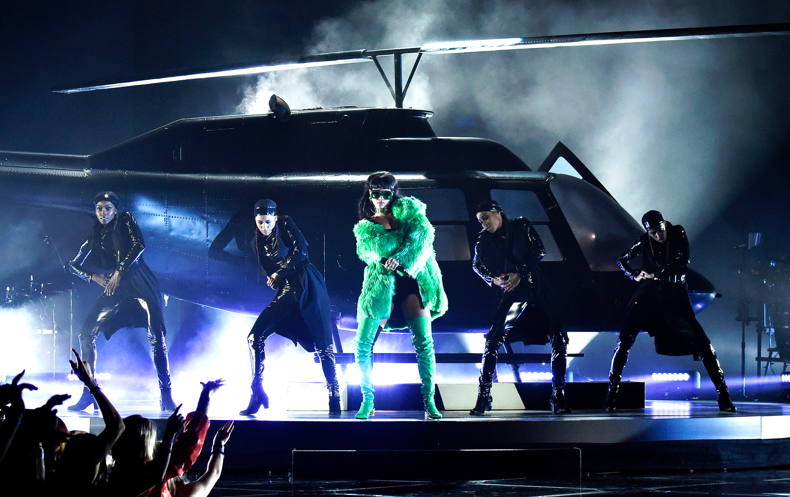 onstage during the 2015 iHeartRadio Music Awards which broadcasted live on NBC from The Shrine Auditorium on March 29, 2015 i