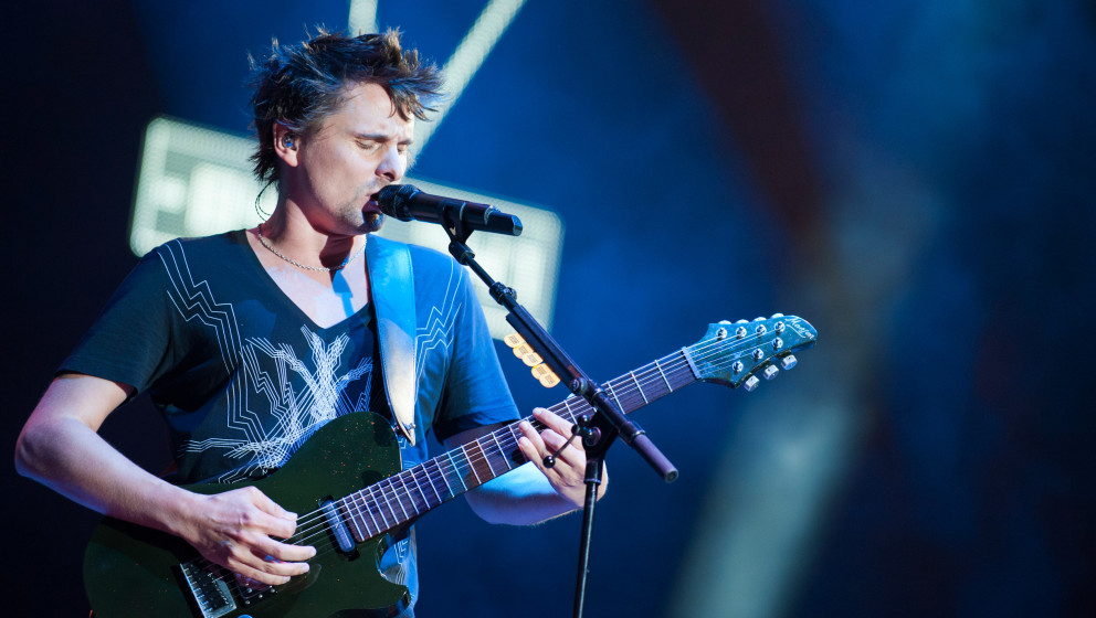 AUSTIN, TX - OCTOBER 04: Matthew Bellamy of Muse performs on stage on Day 1 of Austin City Limits Festival at Zilker Park on