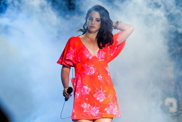 INDIO, CA - APRIL 13:  Singer Lana Del Rey performs at the Coachella Valley music and arts festival at The Empire Polo Club o