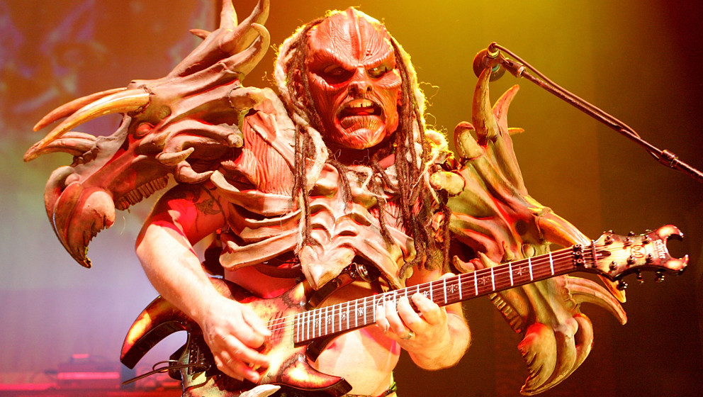 AUSTIN, TX - SEPTEMBER 27:  Musician Flattus Maximus performs in concert with GWAR at the Austin Music Hall on September 27,