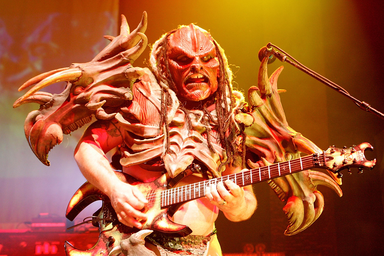 AUSTIN, TX - SEPTEMBER 27:  Musician Flattus Maximus performs in concert with GWAR at the Austin Music Hall on September 27,