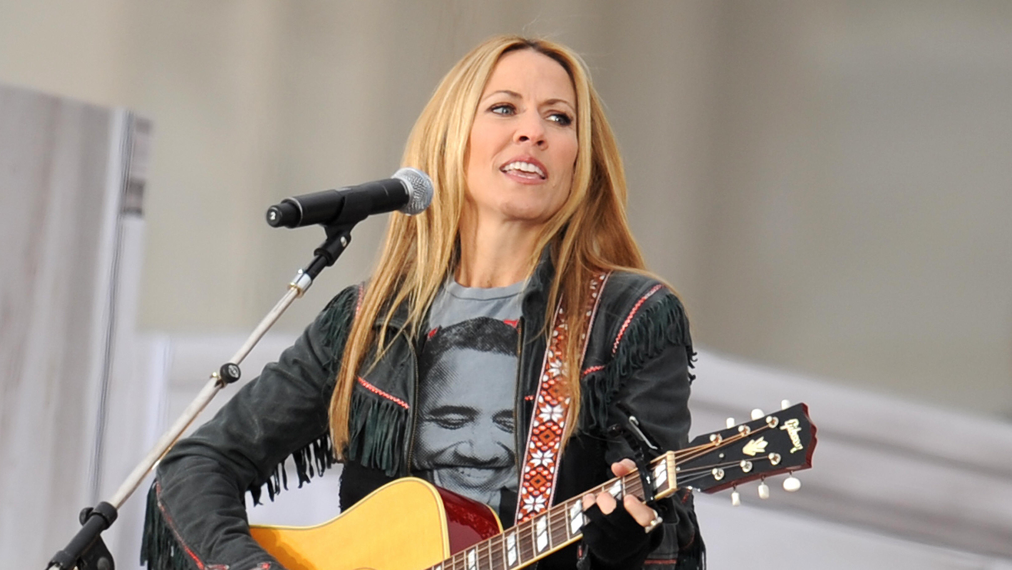 Sheryl Crow performs at the 'We Are One' concert, one of the events of US president-elect Barack Obama's inauguration celebra