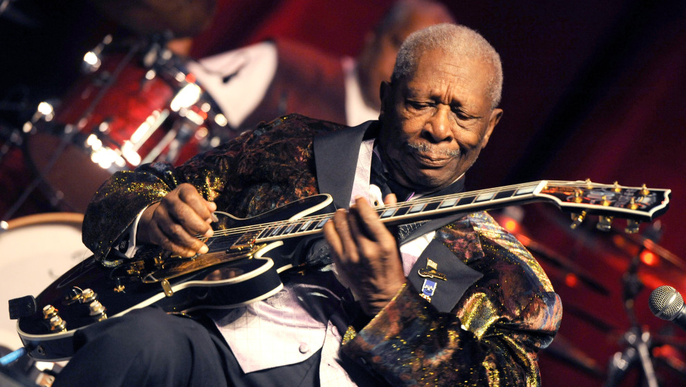 US blues guitarist and singer-songwriter  B.B. King performs during his concert in Prague, July 12, 2011. Photo: Katerina Sul