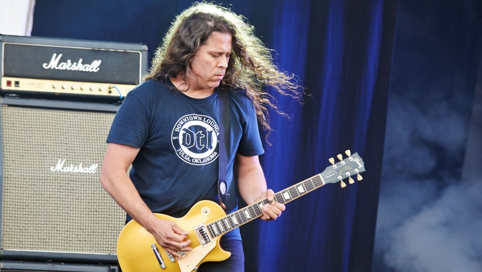 DONNINGTON, UNITED KINGDOM - JUNE 14: Phil Caivano of Monster Magnet performs on stage during day 2 of Download Festival at D
