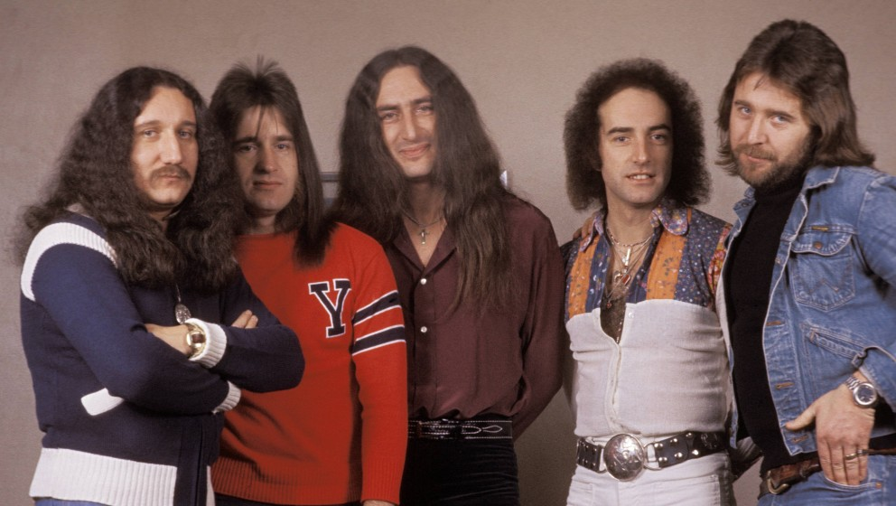 UNSPECIFIED - JANUARY 01:  Photo of John LAWTON and Ken HENSLEY and Trevor BOLDER and Mick BOX and URIAH HEEP and Lee KERSLAK