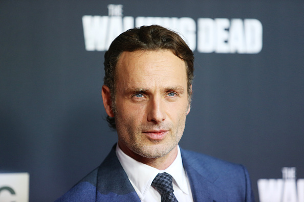 UNIVERSAL CITY, CA - OCTOBER 02:  Andrew Lincoln arrives at AMC's 'The Walking Dead' Season 5 Premiere held at AMC Universal