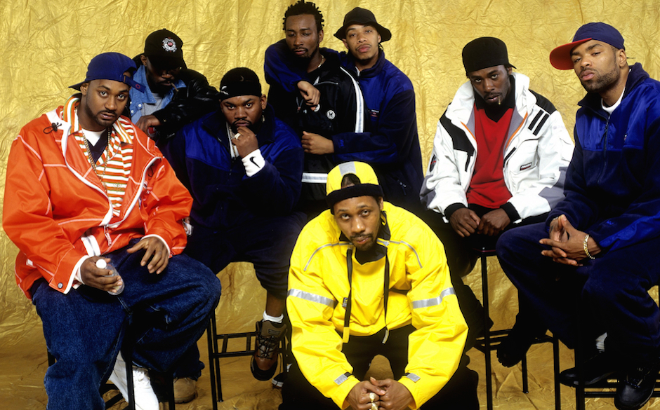 NEW YORK - APRIL 1997: American rap group Wu-Tang Clan (L - R) Ghostface Killah, Masta Killa, Raekwon, RZA, Ol' Dirty Bastard