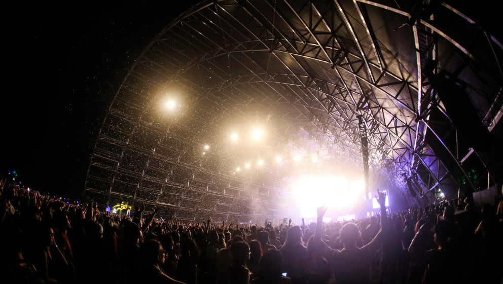 David Guetta performs at the 2015 Coachella Music and Arts Festival on Sunday, April 12, 2015, in Indio, Calif. (Photo by Ric