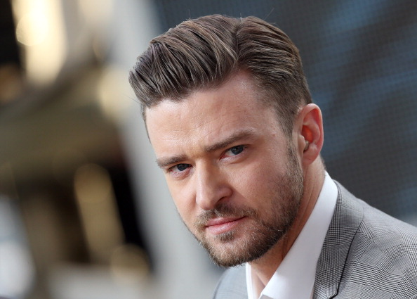 US actor and singer Justin Timberlake takes part on May 20, 2013 in the show 'Le Grand Journal' on the set of the French TV C