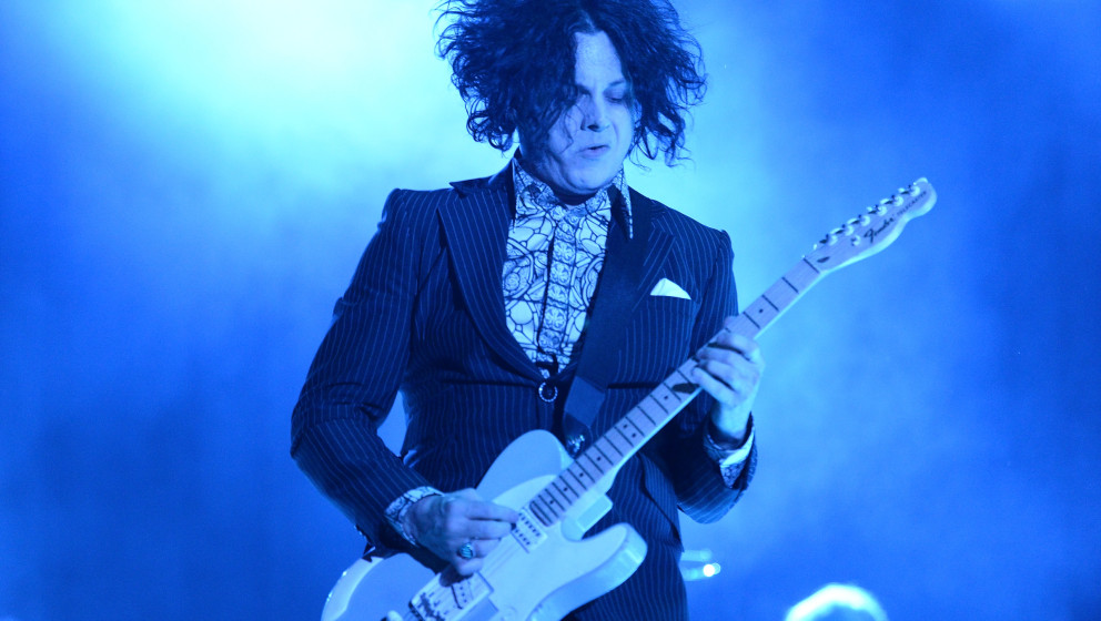 MANCHESTER, TN - JUNE 14:  Singer Jack White  performs during the 2014 Bonnaroo Music & Arts Festival on June 14, 2014 in