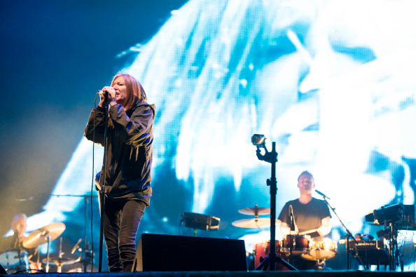 STRADBALLY, IRELAND - AUGUST 30: Beth Gibbons of Portishead performs on stage at Electric Picnic at Stradbally Estate on Augu