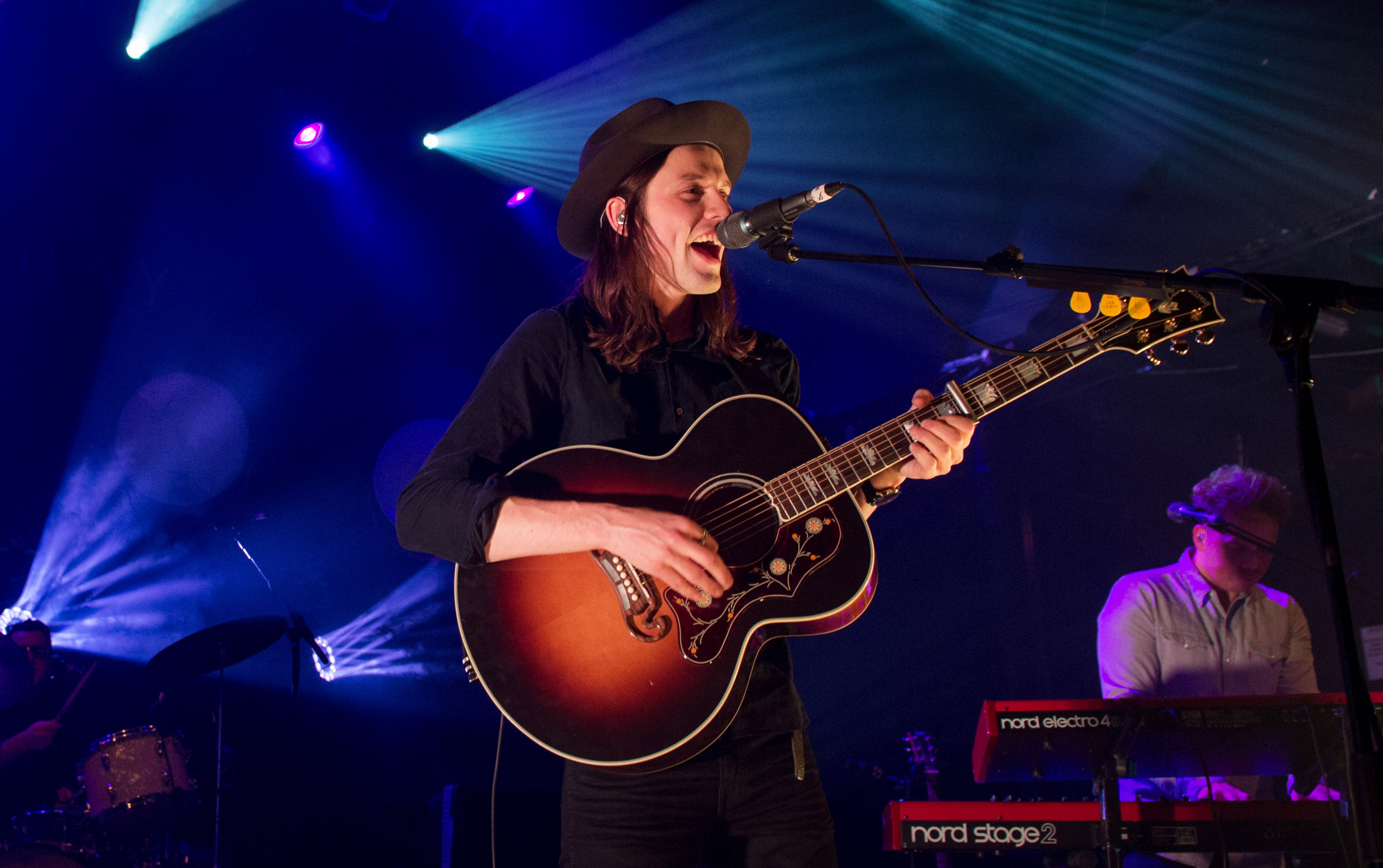 LONDON, ENGLAND - FEBRUARY 12:  James Bay performs at KOKO on February 12, 2015 in London, England.  (Photo by Samir Hussein/