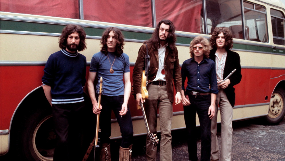 Supertramp, group portrait, UK, July 1970, L-R Rick Davies, Roger Hodgson, Richard Palmer-James, Robert Millar, Dave Winthrop