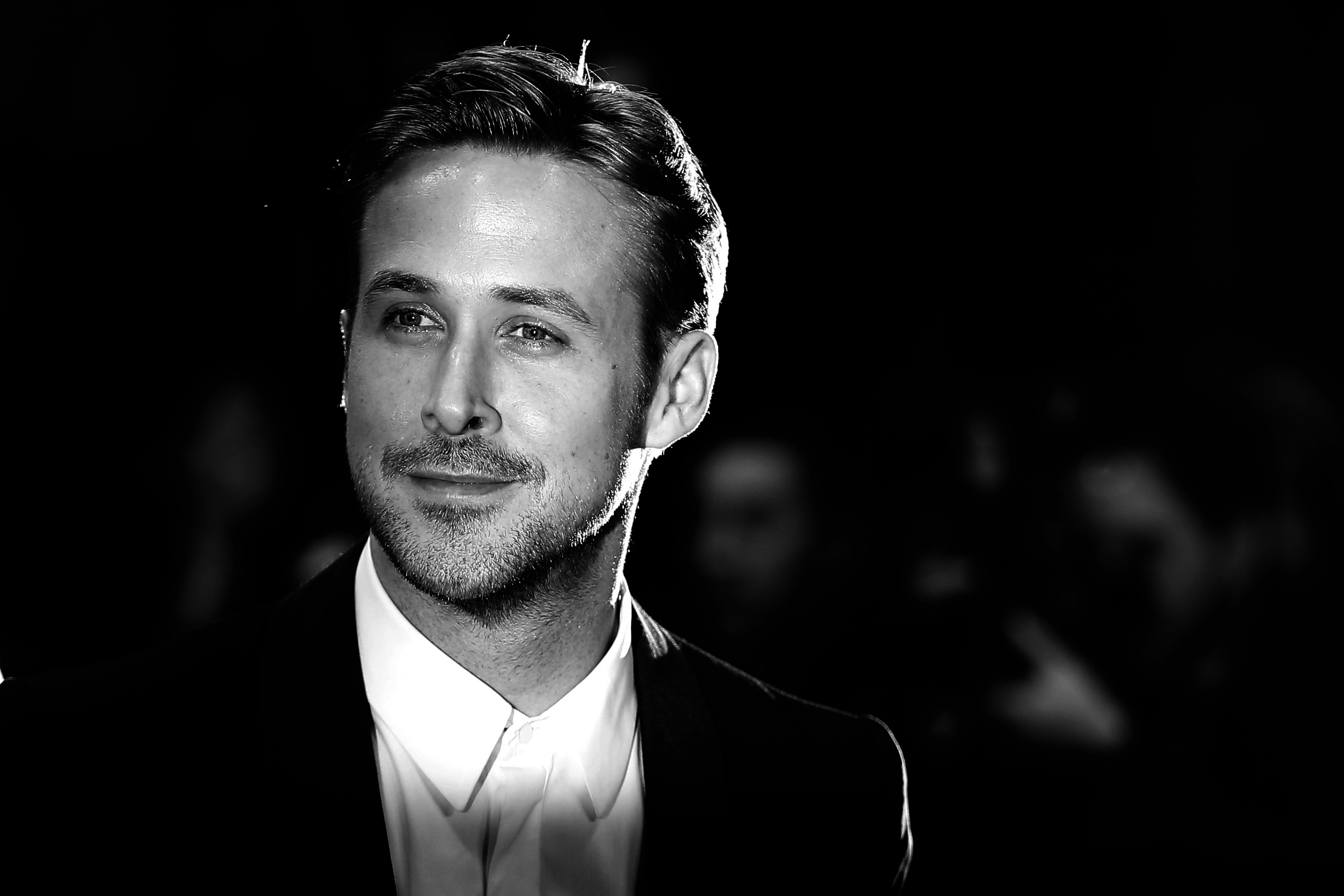 BLACK AND WHITE VERSION Canadian actor Ryan Gosling poses as he arrives for the screening of the film 'Lost River' at the 67t