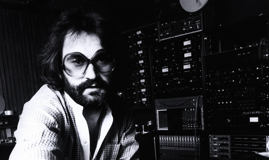 UNSPECIFIED - JANUARY 01:  (AUSTRALIA OUT) Photo of Giorgio MORODER; producer, posed at mixing desk  (Photo by GAB Archive/Re