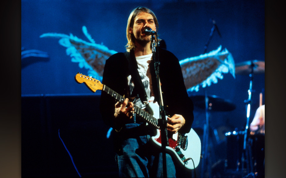 Kurt Cobain of Nirvana in New York City, New York (Photo by Kevin Mazur/WireImage)