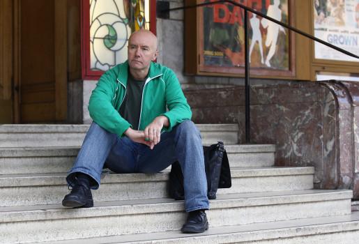 """Irvine Welsh, Autor von """"Trainspotting"""" in Edinburgh."""