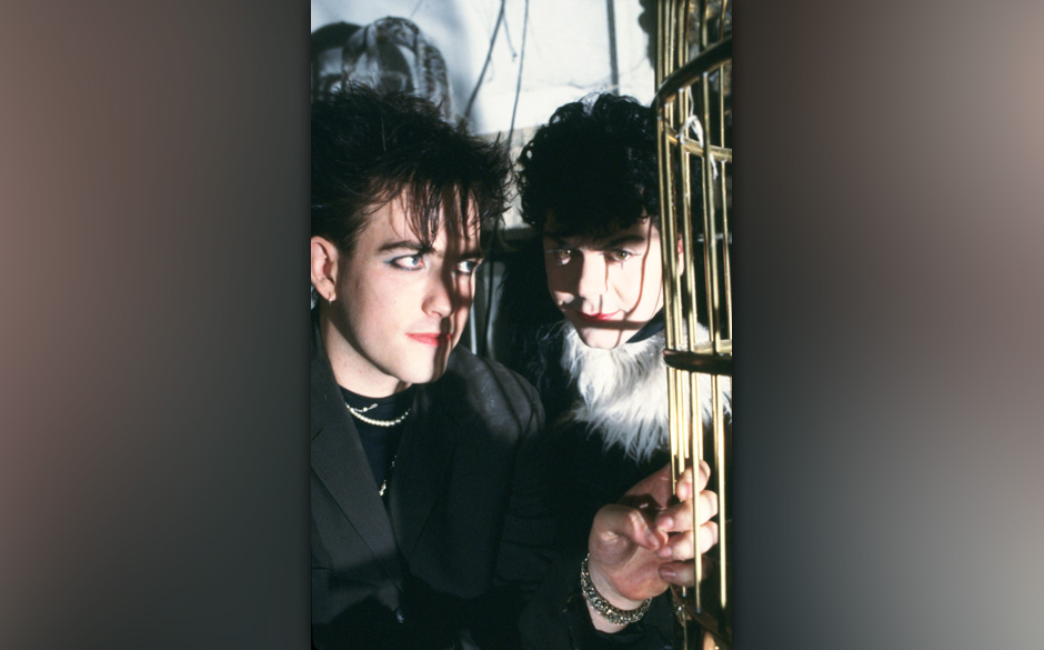 Portrait of The Cure photographed in the early 1980's.;  (Photo by Steve Rapport/Photoshot/Getty Images)