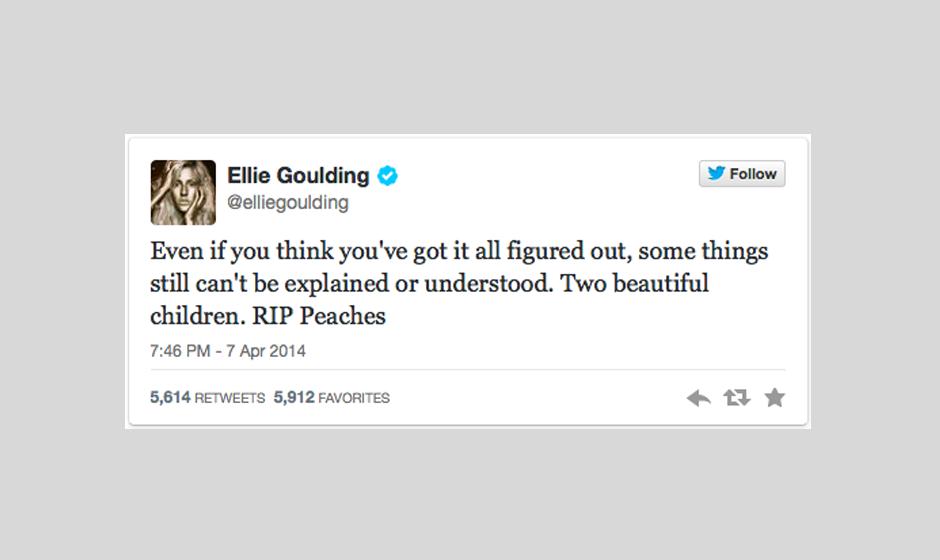 Ellie Goulding findet 'keine Erklärung und kann es nicht verstehen.'