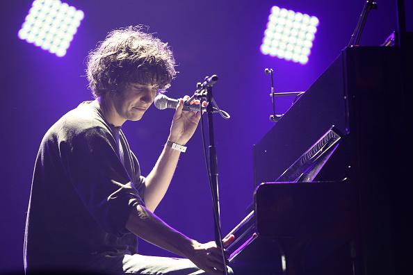 PARIS, FRANCE - NOVEMBER 01: Tobias Jesso Jr performs on stage for Pitchfork Music Festival at Grande Halle de La Villette on