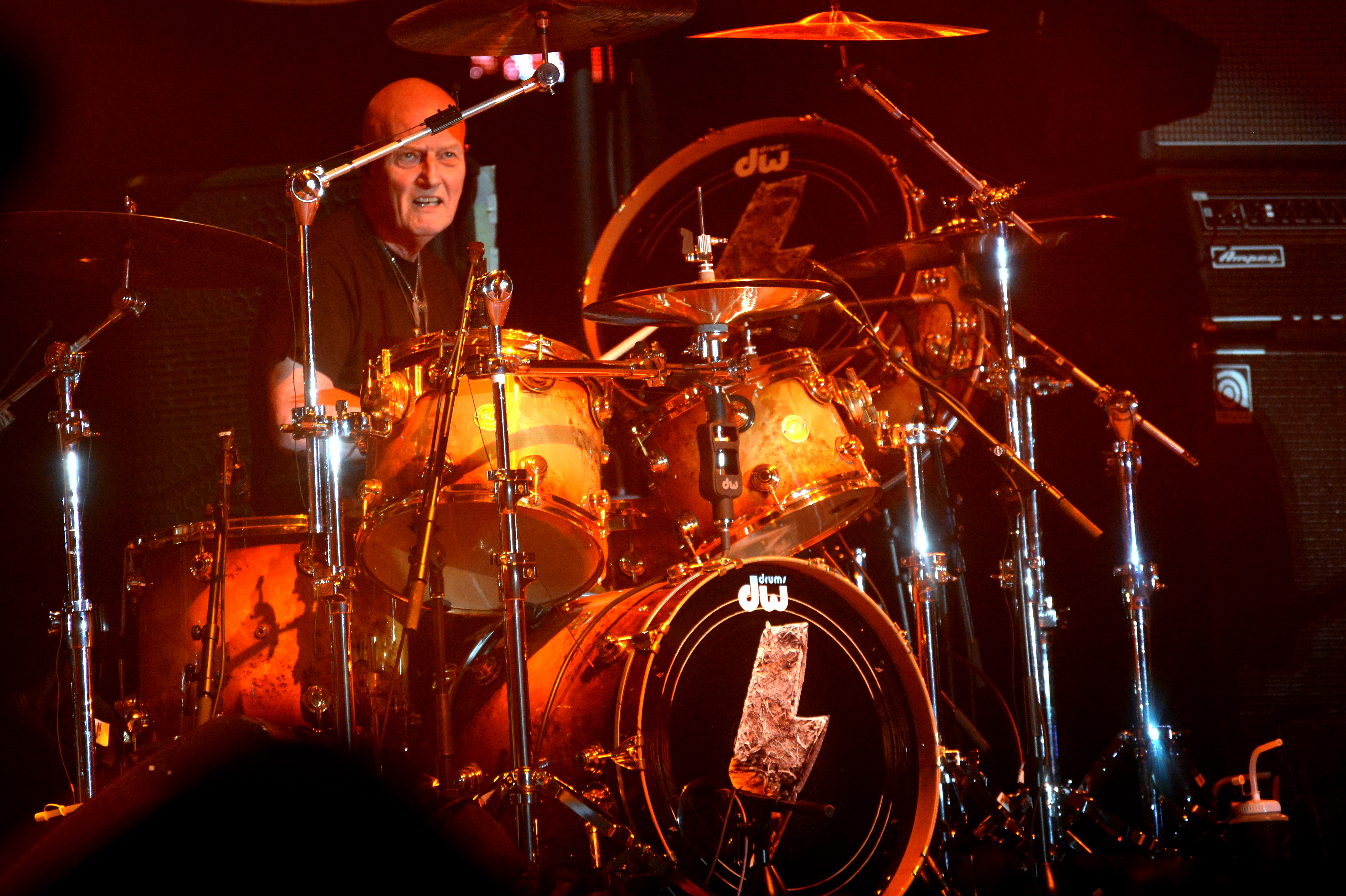 INDIO, CA - APRIL 10: Musician Chris Slade of AC/DC performs onstage during day 1 of the 2015 Coachella Valley Music & Ar
