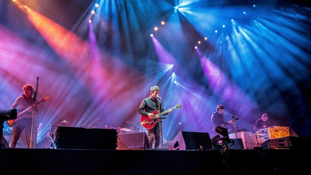 Noel Gallagher's High Flying Birds performing live at the O2 arena, London, 11 March 2015