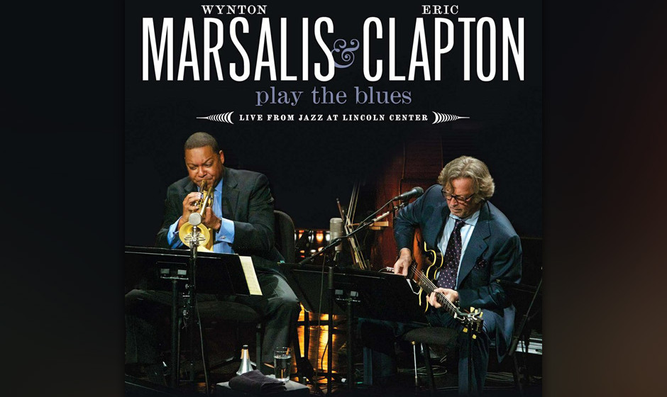 Eric Clapton &Wynton Marsalis - 'Play The Blues: Live From Jazz At Lincoln Center' (Reprise, 2011):  So gut gelaunt kommt er