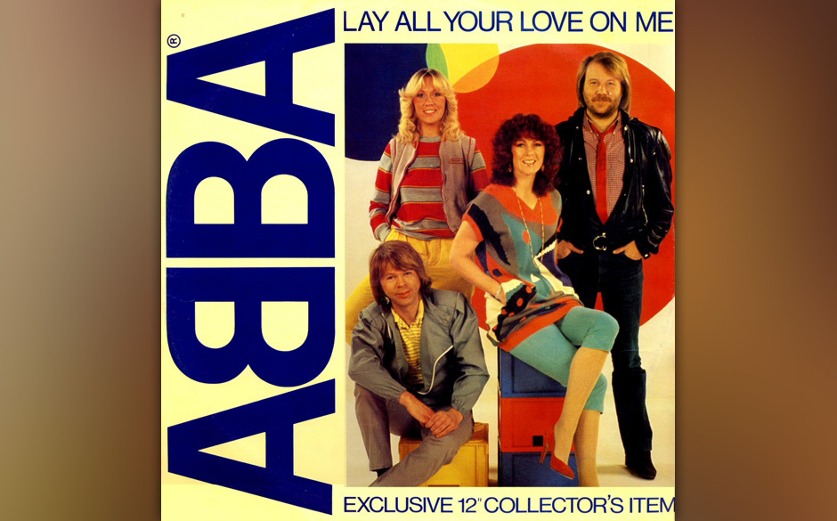 6. 'Lay All Your Love On Me'.  Das Stück lebt von Missverhältnis des Disco-Beats, dem suggestiven, geradezu pervers-feierli