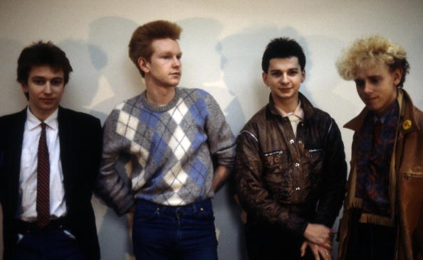 UNITED STATES - JANUARY 01:  Photo of DEPECHE MODE; Group portrait - L-R Alan Wilder, Andrew Fletcher, Dave Gahan and Martin