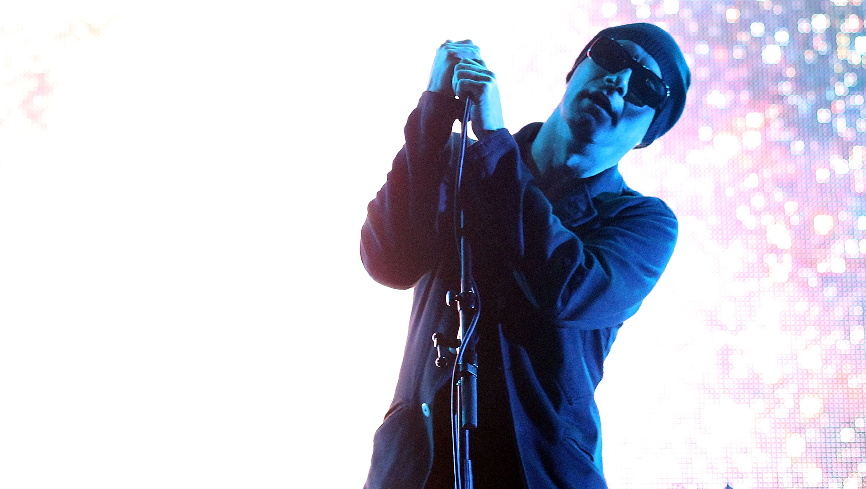 MAITLAND, AUSTRALIA - MAY 07:  James Lavelle of Unkle performs on stage at the Groovin The Moo Festival on May 7, 2011 in Mai